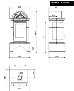 Печь-камин La Nordica Anthea Verticale