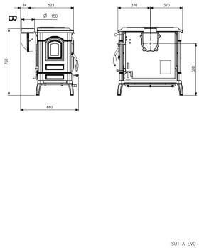 Печь-камин La Nordica Isotta