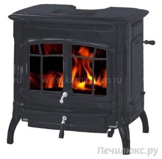 Печь-камин Hergom Bennington, окрашена в черный цвет