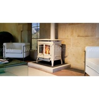 Печь-камин Hergom Bennington, эмалирована в кремовый цвет