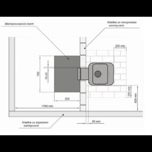 Дровяная печь для бани Greivari Кирасир 15 стандарт Grey