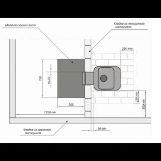 Дровяная печь для бани Greivari Кирасир 25 Intro