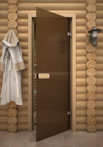 Дверь для бани/сауны LK ДС Бронза Матовая 1700х700мм ОСИНА