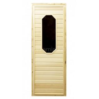 Дверь для бани/сауны LK с восьмиугольным стеклом