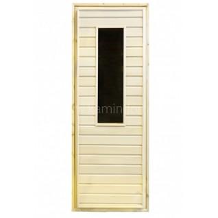 Дверь для бани/сауны LK с прямоугольным стеклом