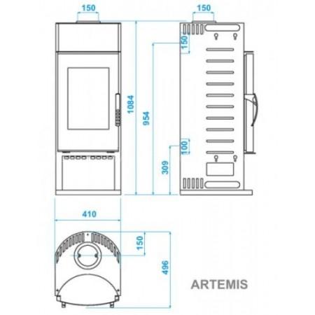 Печь-камин ABX Artemis (бразильский песчаник)
