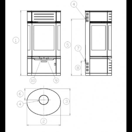 Печь-камин ABX Atrium 7