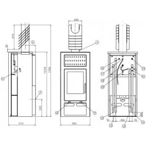 Печь-камин ABX Belt 10 Аква