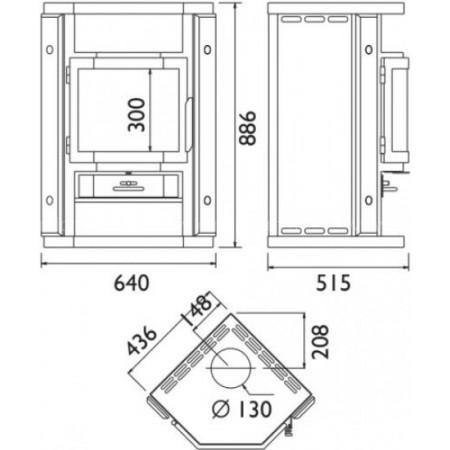 Печь-камин ABX Skandik 6