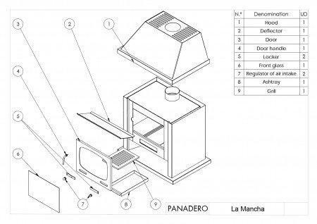 Печь-камин Panadero La Mancha