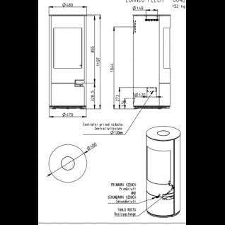 Печь-камин Romotop LUANCO листовой металл