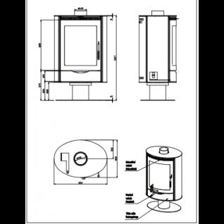 Печь-камин Romotop Stromboli 03 листовой металл