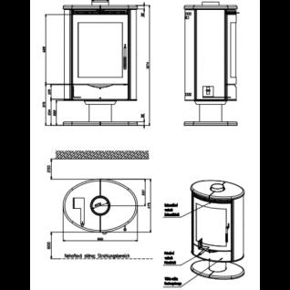 Печь-камин Romotop Stromboli 04 песчаник