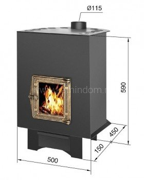 Отопительная печь Везувий 150 C