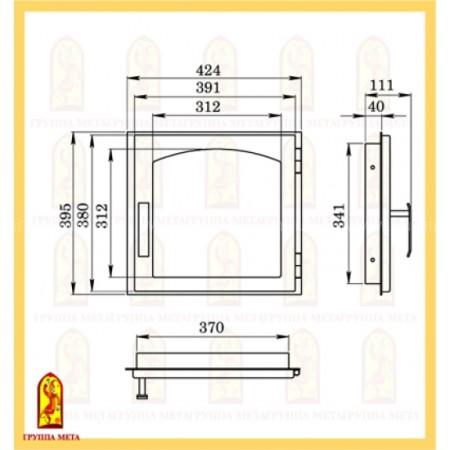 Дверь печная МЕТА ДЕ424-1А