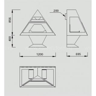 Камин Traforart Admeto frontal