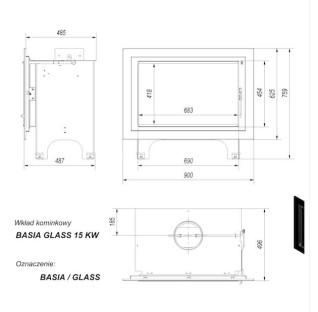 Каминная топка Kratki Basia/GLASS (двойное стекло)