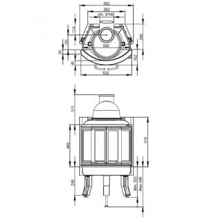 Каминная топка Nordpeis NI-22 (складные дверцы)
