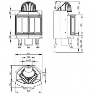 Каминная топка Nordpeis NI-25 (складные дверцы)