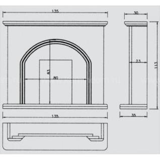 Портал для камина Crumar Chirico