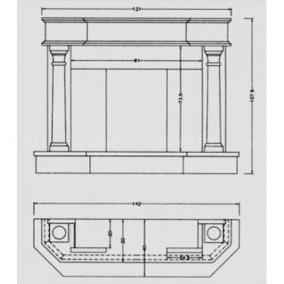 Портал для камина Crumar Ensor