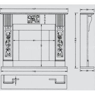 Портал для камина Crumar Gaudi