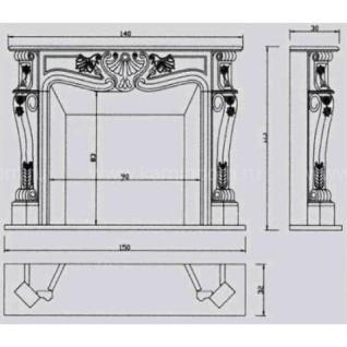 Портал для камина Crumar Giotto