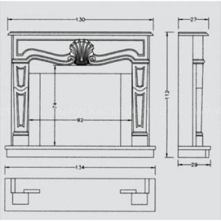 Портал для камина Crumar Goya