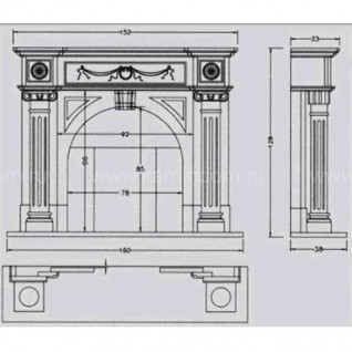 Портал для камина Crumar Ingres