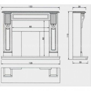 Портал для камина Crumar Rossetti