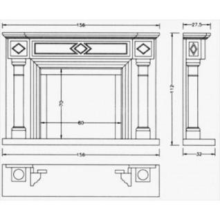 Портал для камина Crumar Rubens