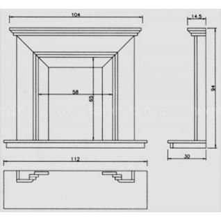 Портал для камина Crumar Vasarely