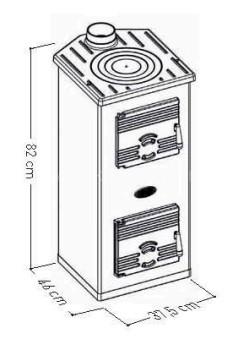 Отопительная печь Sideros Bruciatuto 870