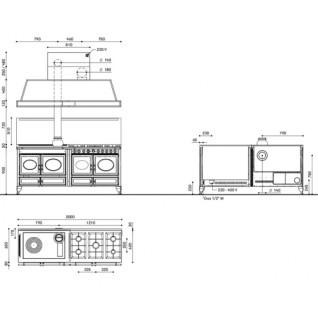 Отопительно-варочная печь-плита J.Corradi Country 200LGE