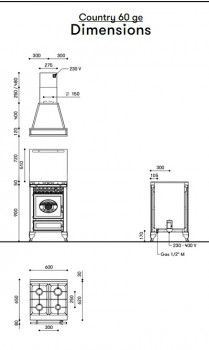 Отопительно-варочная печь-плита J.Corradi Country 60GE