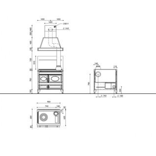 Отопительно-варочная печь-плита J.Corradi Country 90L