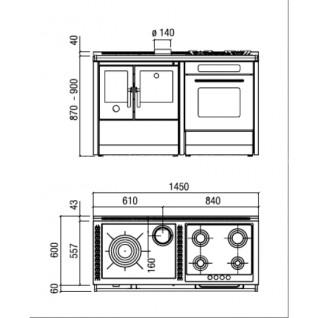 Отопительно-варочная печь-плита J.Corradi NEOS 145LGE