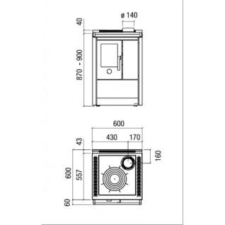 Отопительно-варочная печь-плита J.Corradi NEOS 60 LT