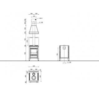 Отопительно-варочная печь-плита J.Corradi Rustica 60LT