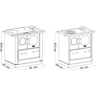 Отопительно-варочная печь-плита Sideros STANDARD 412 (черная)