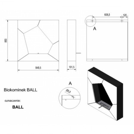 Биокамин Kratki Ball