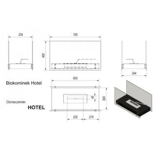 Биокамин Kratki Hotel