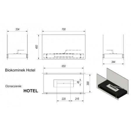 Биокамин Kratki Hotel, TUV (черный)