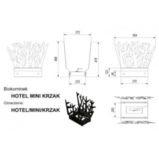 Биокамин Kratki Hotel Куст mini