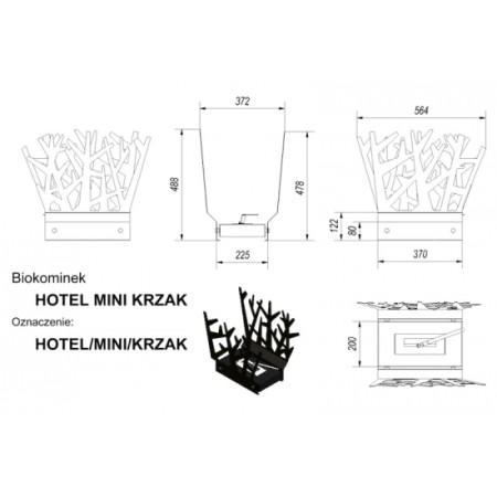 Биокамин Kratki Hotel Mini Куст HOTEL/MINI/KRZAK