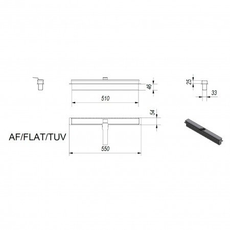 Прямоугольный контейнер Kratki FLAT, TUV(AF/FLAT/TUV)