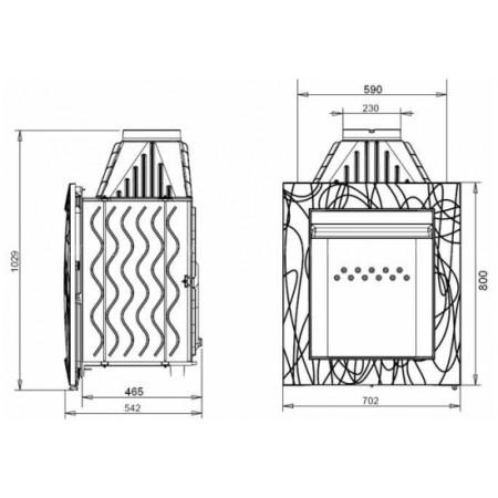 Каминная топка Invicta Decor Symphone Vertical (Симфония вертикаль)