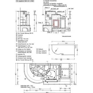 Кафельная печь-камин Hark 5/109.0
