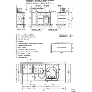 Кафельная печь-камин Hark 5/114.0