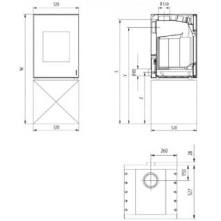 Каминофен Hark HOT BOX RUA